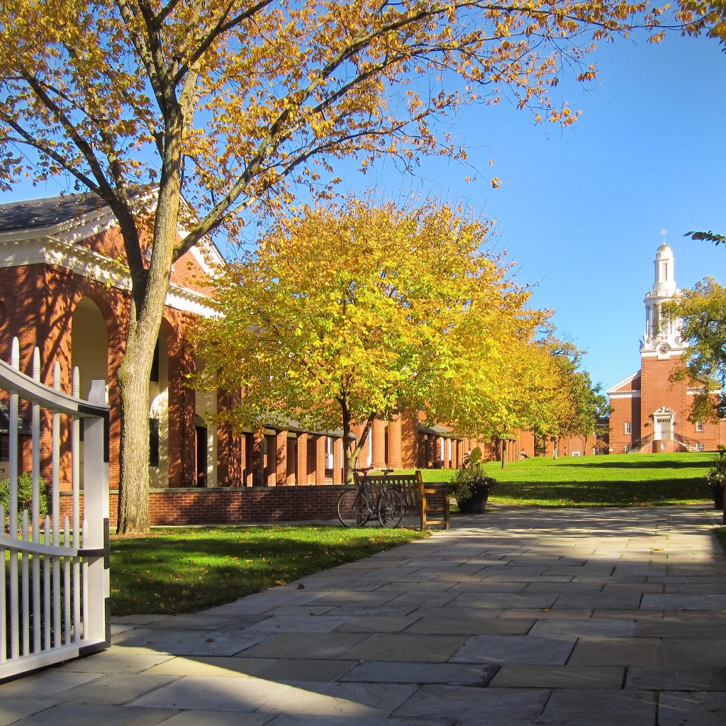The beautiful Sterling Divinity Quadrangle in autumn. Source: http://www.facebook.com/yaledivinityschool
